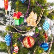 New year background with beautiful color decorations — ストック写真