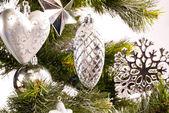 Neujahrskarte mit schönen dekorationen — Stockfoto