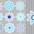 Decorative Snowflakes set — Stok Vektör