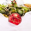 Stock Photo: New year background with decoration ball