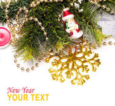 New year background with beautiful color decorations — Stock Photo