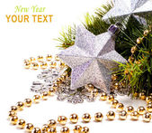 New year card with beautiful star — Stock Photo