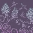 Beautiful floral prickle background — Stockvektor