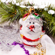 Royalty-Free Stock Photo: New year card with beautiful snowman