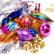 New year background with colorful decorations — Stock Photo #16260923