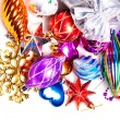 New year background with colorful decorations — Foto de Stock