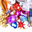 Royalty-Free Stock Photo: New year background with colorful decorations