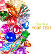 New year background with colorful decorations — Stock Photo #16260961