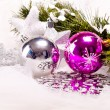 New year background with decoration balls — Stockfoto #16260963