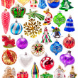 Stock Photo: New year colorful decorations big set