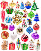New year colorful decorations big set — Stock Photo
