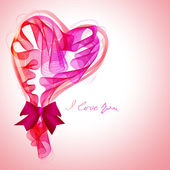 Beautiful Valentine's background with abstract pink and red hear — 图库矢量图片