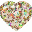Beautiful Valentine's background with heart and butterfly — Stockvektor