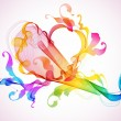 Abstract background with heart — Imagens vectoriais em stock