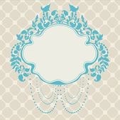 Vintage Frame floral label — Stock Vector