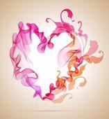 抽象的なピンクと赤のハート — ストックベクタ