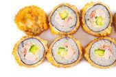 Salmon Fried Sushi — Stock Photo