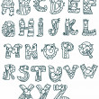 Funny Alphabet - Stock Vector