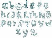 Alfabeto gracioso — Vector de stock
