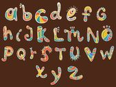 Funny color Alphabet — Stock Vector