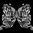 Royalty-Free Stock Imagen vectorial: Floral butterfly card