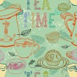 Vintage tea background — Stock Vector