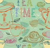Vintage tea background — Stock Vector