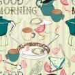 Royalty-Free Stock Vector Image: Seamless vintage morning breakfast background