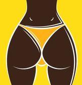 Sexy woman ass — Stock Vector