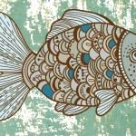 Beautiful color Fish — Stock Vector
