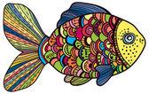 Beautiful color Fish — Stok Vektör