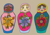 Russian nested doll, Matrioshka set — Stock Vector