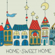 Sweet Home background — Stock Vector