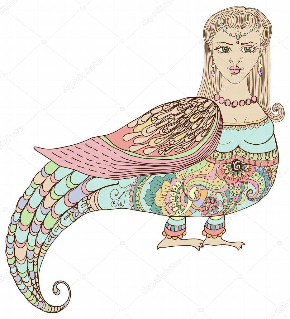 Russian Bird Woman Fantastic Woman Bird With