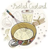 Boiled custard — Stock Vector