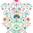 Beautiful floral ornament — Stock Vector