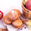 Muffins with apple and cinnamon — Stock Photo