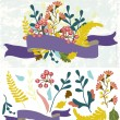 Retro flowers, Cute floral bouquet — Stock Vector #34960363