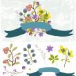 Retro flowers, Cute floral bouquet — Stock Vector