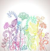 Romantyczny kwiat kolorowe tło — Wektor stockowy