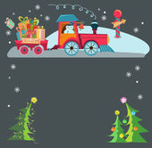 Christmas train — Stock Vector