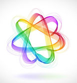 Abstract colorful background with Star infinite loop — Stok Vektör