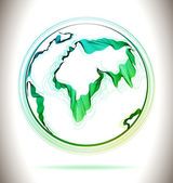 Globe green abstract icon — Vector de stock