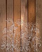 Romantic flower background, natural doodle illustration — Stock Vector