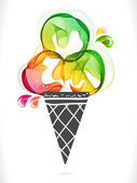 Colorful background with ice cream — Wektor stockowy