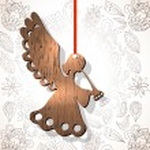 Wooden figure of angel — Stock Vector #47676069