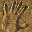 Sand Hand Stamp — Stock Photo