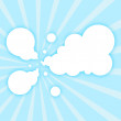 Royalty-Free Stock Vector Image: Paper clouds background with sun rays