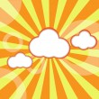 Random Fluffy Clouds and Sunny Sky - Stock Vector