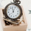 Pocket watch in a box — Stock Photo